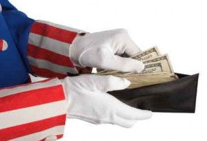 uncle sam taking money from your wallet is part of tax compliance
